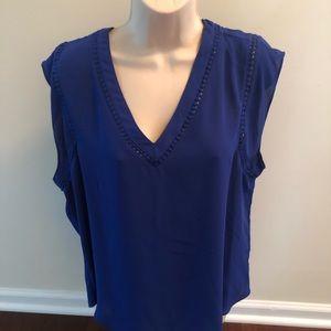41 Hawthorn Royal Blue Sleeveless New Blouse XL
